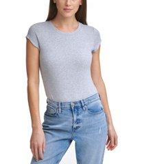 calvin klein jeans short-sleeve logo-patch bodysuit