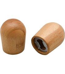 abridor de garrafas de bambu - oikos