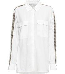 camicia lunga con passamaneria (bianco) - rainbow