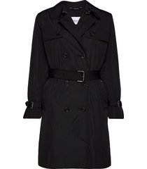 lightweight nylon trench trenchcoat lange jas zwart calvin klein