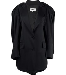 mm6 maison margiela cape-style single-breasted blazer - black