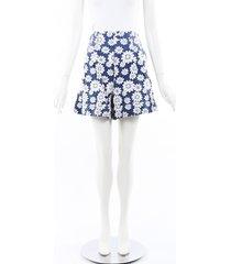 comme des garcons floral cotton shorts blue/white/floral print sz: s