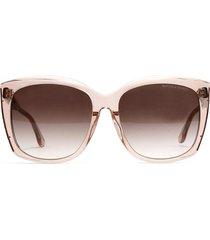 bottega veneta bottega veneta bv0182s transparent pink sunglasses
