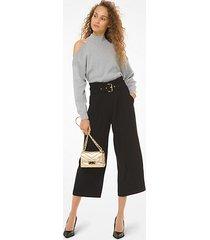 pantalone culotte in cady con cintura