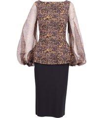 la petite robe di chiara boni silk dress