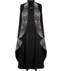 le petite robe di chiara boni animal-print sleeveless coat - black