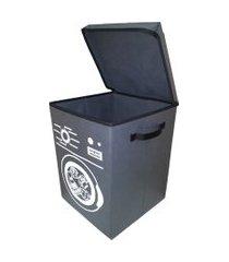 cesto para roupa suja organibox lavanderia - ccinza