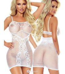 * provocative witte net jurk samantha