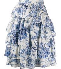zadig & voltaire fashion show joker ruffle skirt - white