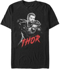 marvel men's avengers infinity war dark painted thor short sleeve t-shirt