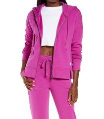 women's ugg gertie full zip hoodie, size medium - purple