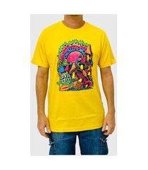 camiseta santa cruz toxic wasteland amarelo