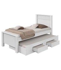 cama de solteiro bibox athenas plus branco móveis lopas