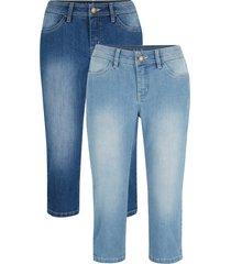 jeans capri elasticizzati (pacco da 2) (blu) - john baner jeanswear