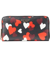 kate spade new york spencer celebration hearts zip-around continental wallet