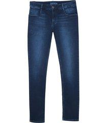 calça dudalina denim malha dark blue detalhe pence jeans masculina (jeans escuro, 48)