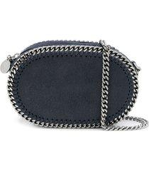 stella mccartney falabella oval crossbody bag - blue