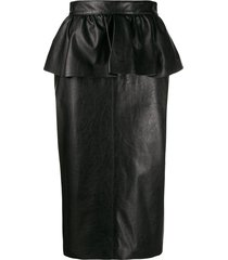 msgm peplum pencil skirt - black