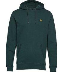 pullover hoodie hoodie trui groen lyle & scott