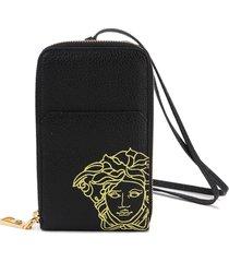 versace zip around wallet
