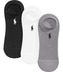 polo ralph lauren 3 pack honeycomb high-cut liner socks
