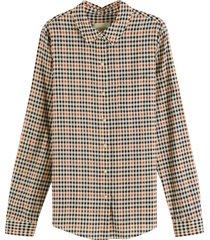 maison scotch regular fit cotton viscose shirt