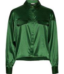 tikkigz shirt ma20 blouse lange mouwen groen gestuz