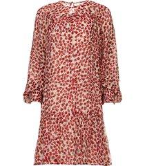 jurk met print joelle  rood