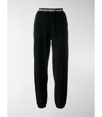 t by alexander wang logo waistband track trousers