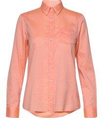 d1. reg air oxford bd shirt overhemd met lange mouwen oranje gant