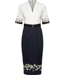 avii jurk knielengte blauw ted baker