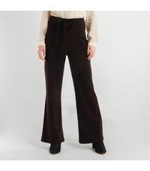 pantalon para mujer en crepé cafe color cafe talla 6