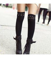 calze da donna sopra le calze autoreggenti con rivetto in cotone