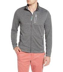 men's tommy bahama beach trek zip jacket, size small - black