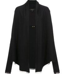 alala jet set cardigan - black
