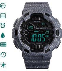 skmei reloj digital hombre militar deportivo camuflaje gris