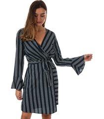 vero moda nicky long sleeve dress size 6 in blue