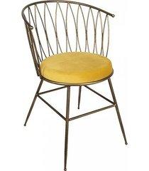 krzesło metalowe maya