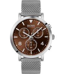 boss men's chronograph spirit stainless steel mesh bracelet watch 41mm