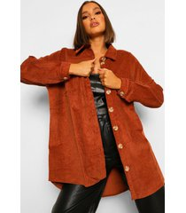 oversized corduroy blouse, tan