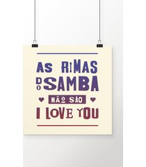poster rimas do samba