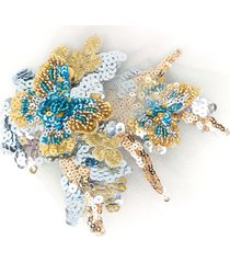 mischka aoki sequined hair clip - blue