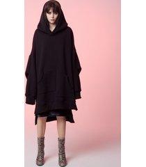 bluza oversize all black