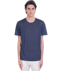 120% lino t-shirt in blue linen
