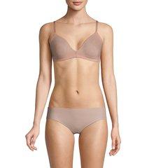 hanro women's smooth illusion soft cup bra - black - size 34 b