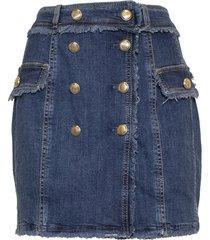 minigonna di jeans con bottoni