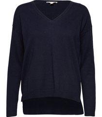 sweaters stickad tröja blå esprit casual
