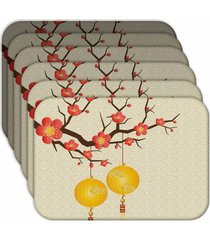 jogo americano - love decor  chinese kit com 6 peã§as - multicolorido - dafiti