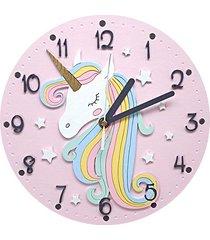 zegar ścienny dla dziewczynki z jednorożcem
