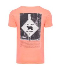 camiseta masculina bear - rosa